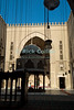 "Cairo, Egypt -- Interior courtyard and fountain (sahn) and iwans of the Sultan Hassan Mosque. © Rick Collier / RickCollier.com<br /> <br /> <br /> <br /> travel; vacation; tour; tourism; tourist; destination; Egypt; Cairo; mosque; madrassa; Sultan; Hassan; ""Sultan Hassan""; lamp; light; illumination; courtyard; sahn; iwan; iwans"