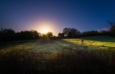 Sunrise in Newbury, England