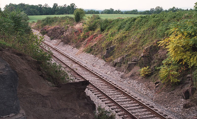 The Railroad Cut - a deathtrap for advancing Confederates