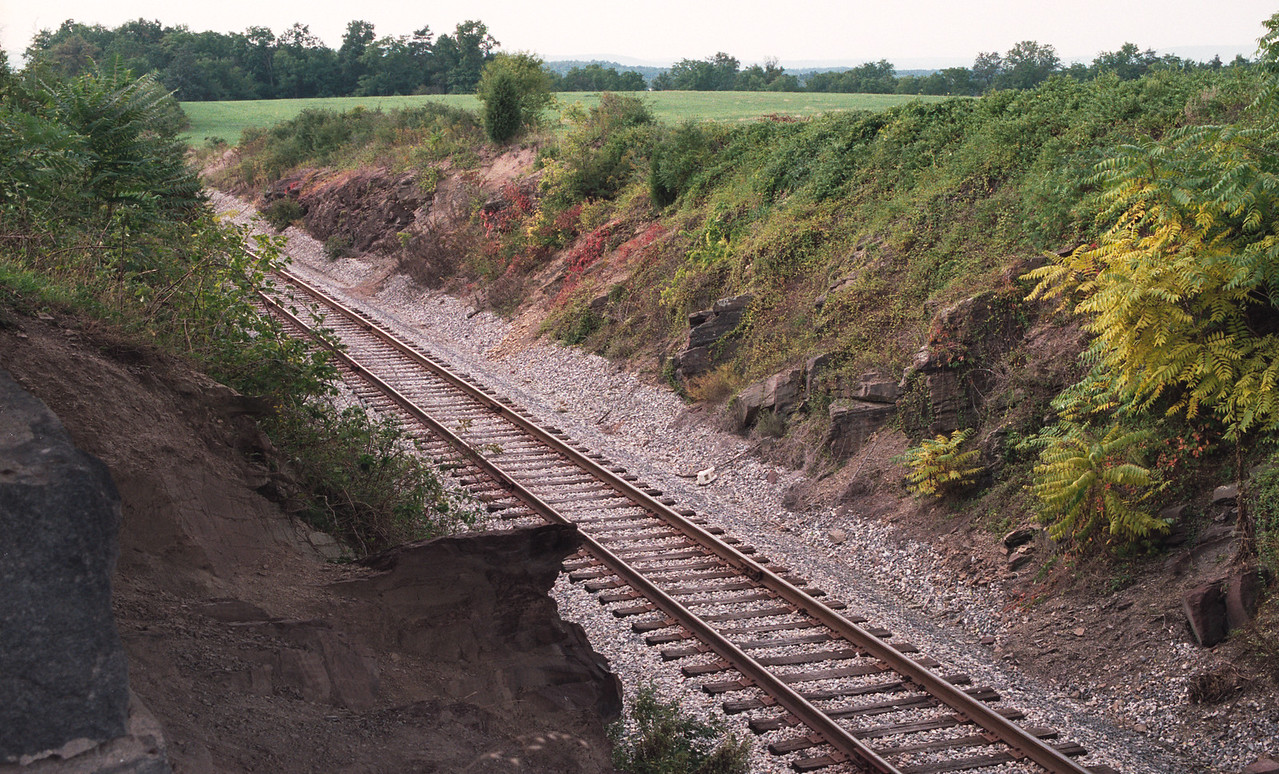 The Railroad Cut - a deathtrap for advancing Confederates