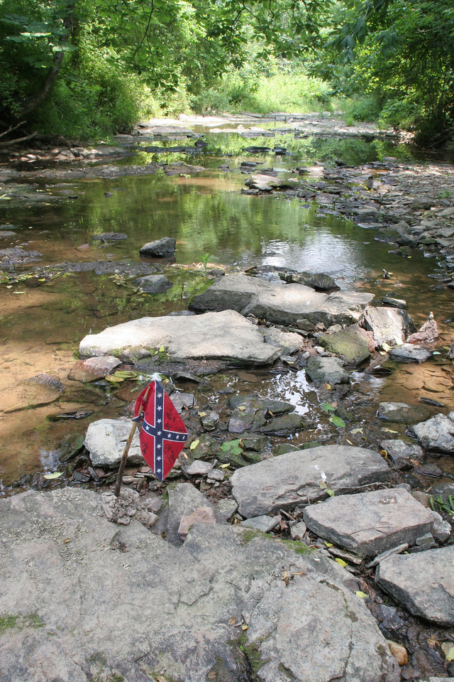 Willoughby Run - where the 26th NC and other Confederate units crossed
