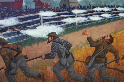 Detail from the Coster Mural - north edge of town
