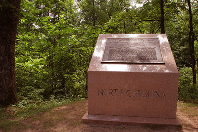 "Monument to the famous 26th NC regiment led by the ""Boy Colonel;"" the unit was decimated at Gettysburg"
