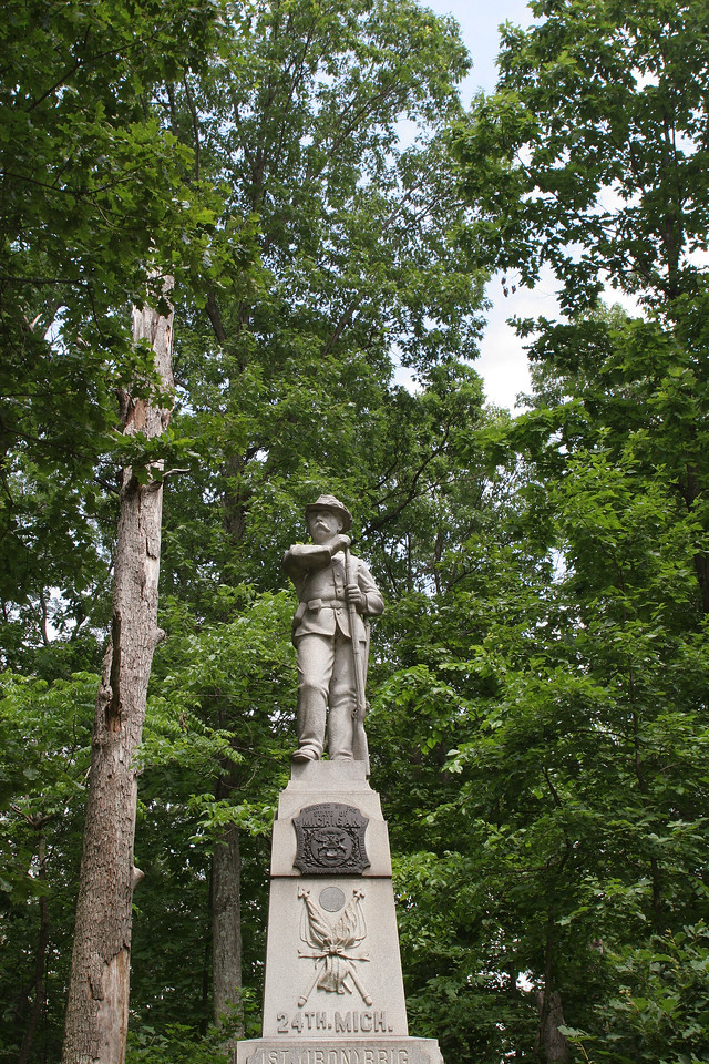 24th Michigan of the Iron Brigade - McPherson's Woods