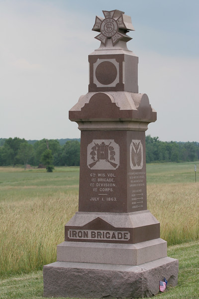 6th Wisconsin Monument of the Iron Brigade - at the Railroad Cut