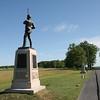 Monuments along Oak Ridge - This is the 11th Pennsylvania's.