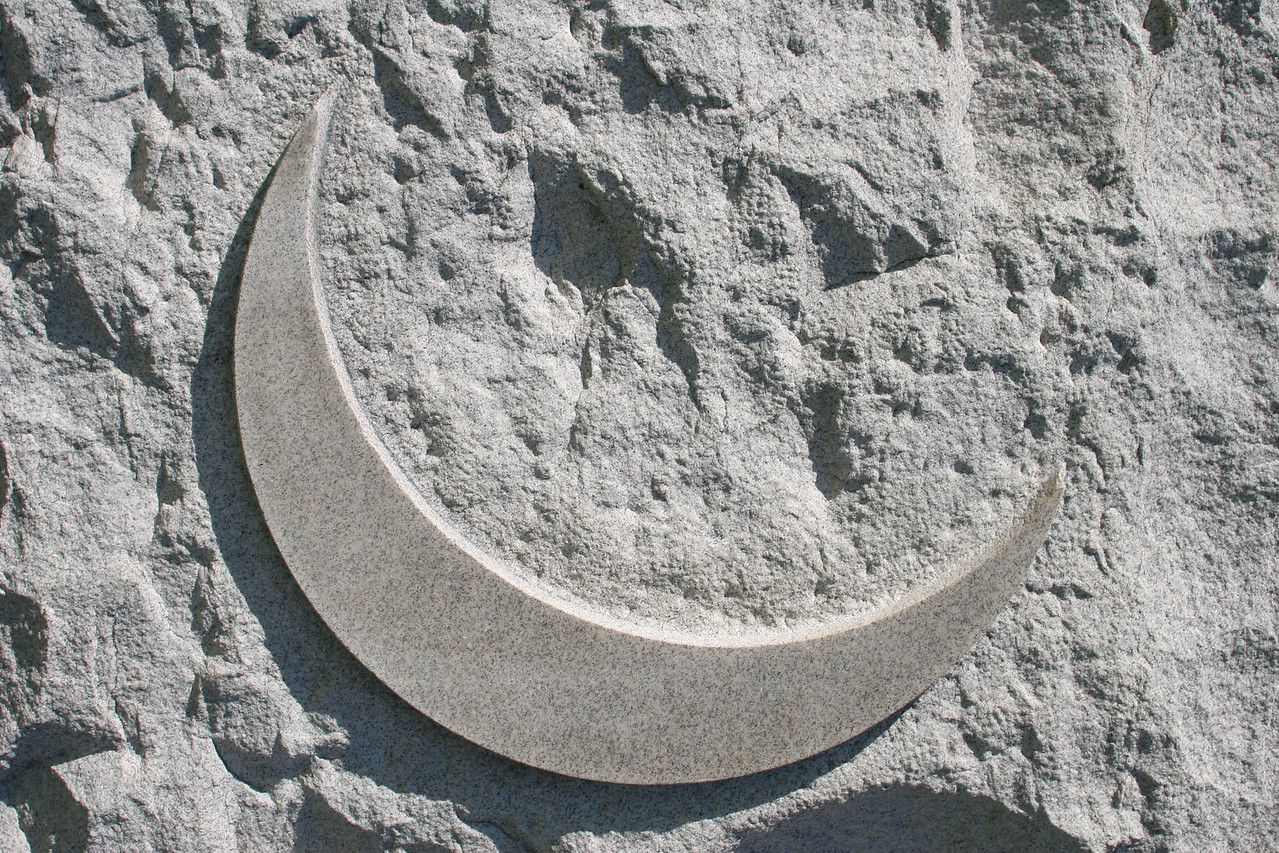 Crescent moon emblem of the doomed 11th Corps - Barlow's Knoll.