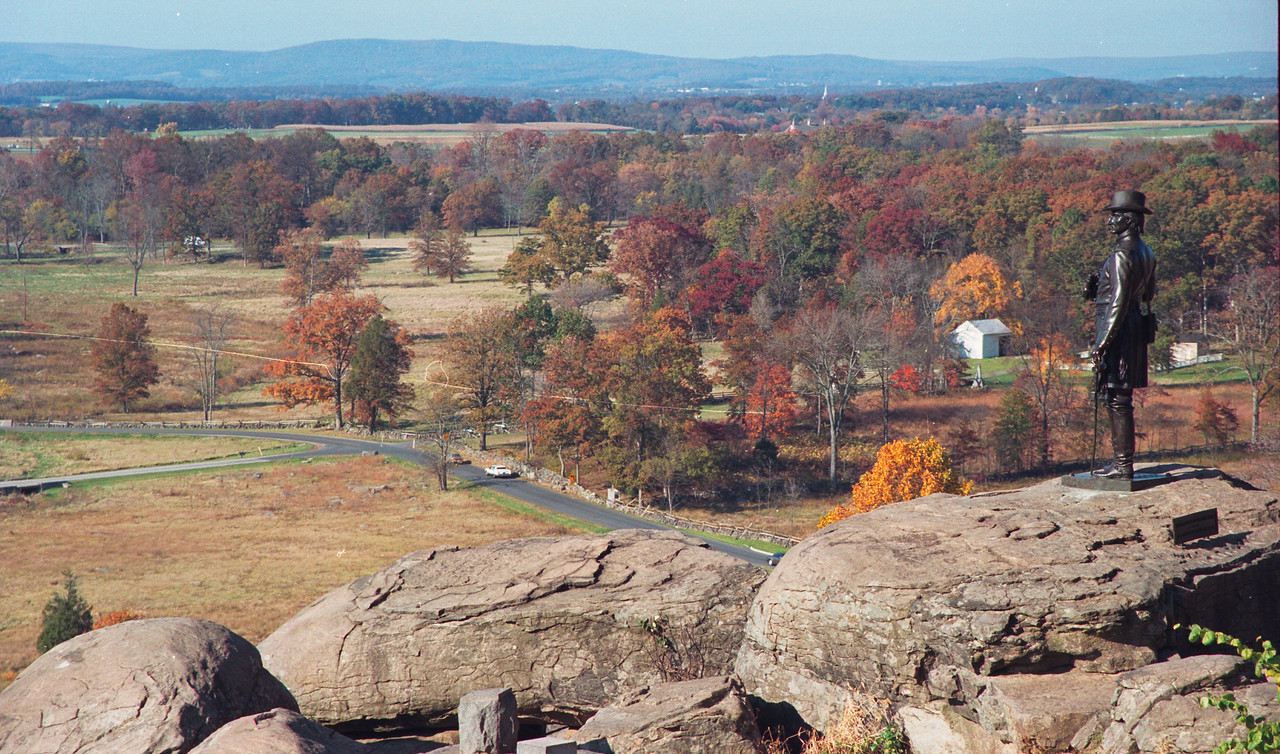 View from Little Round Top toward Cemetery Hill.