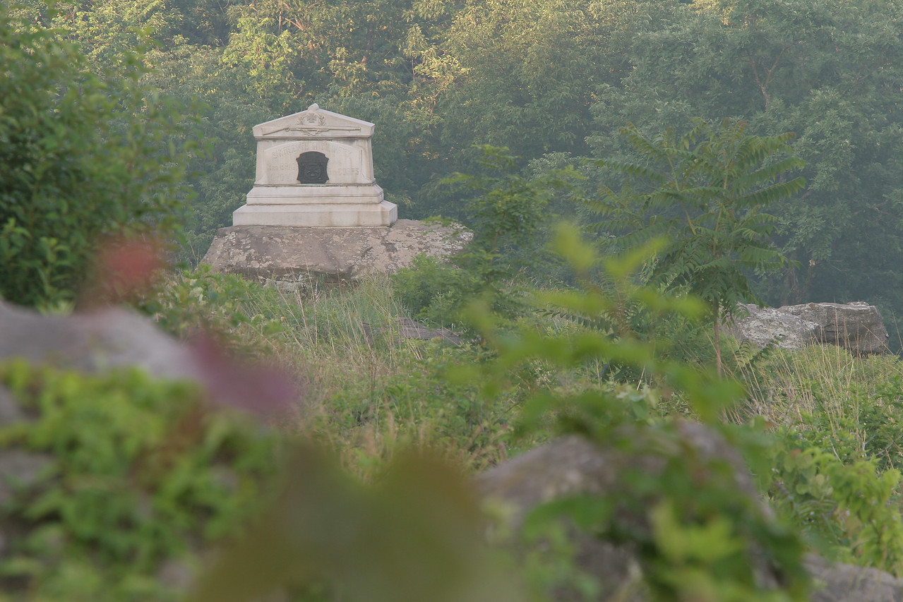 Monument to the 16th Michigan on Little Round Top.