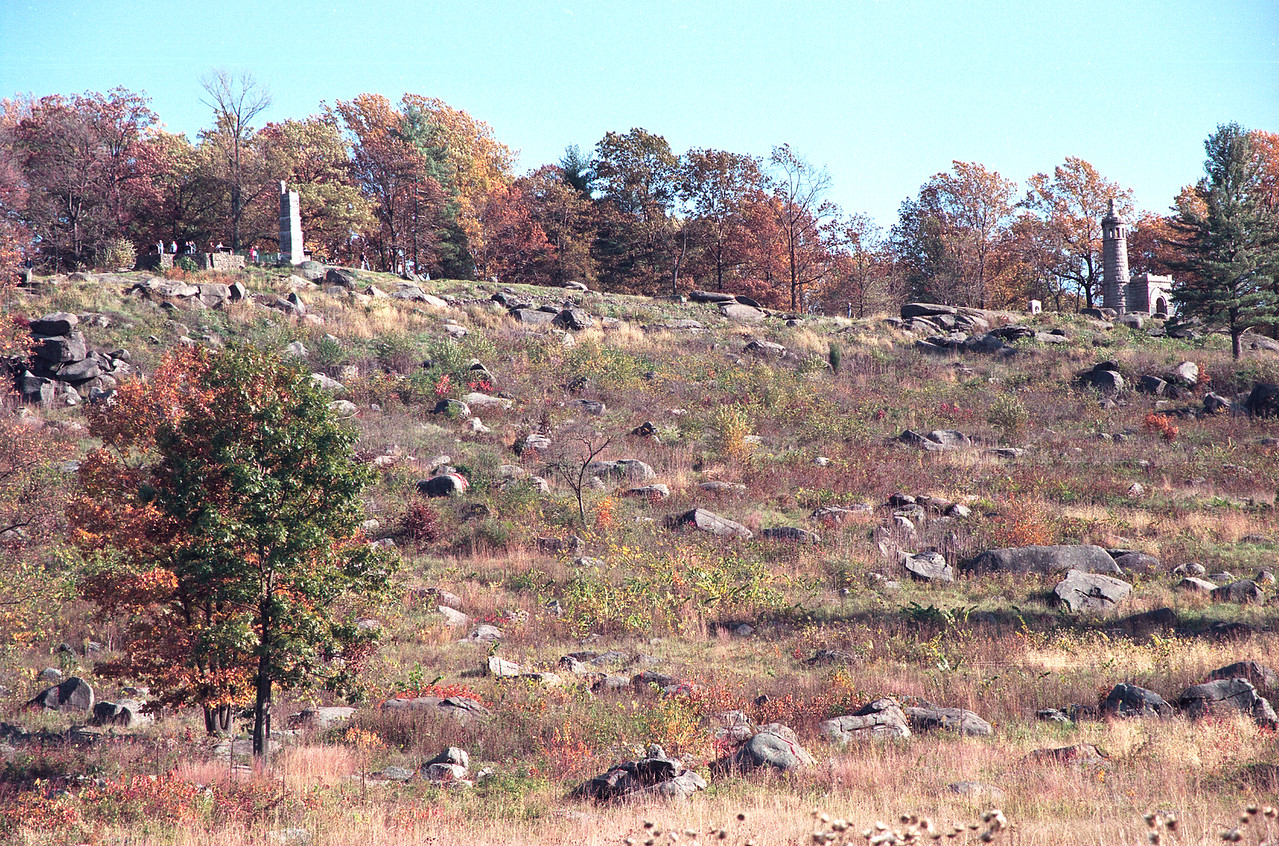 The rocky slope of Little Round Top.