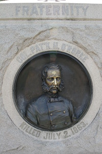 Patty O'Rourke, who was killed leading his 140th New York regiment over the crest of Little Round Top.