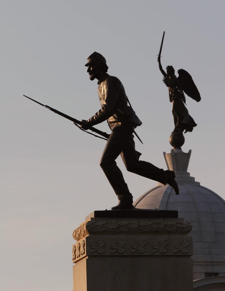 1st Minnesota Monument and Pennsylvania Memorial - Gettysburg National Battlefield, Pennsylvania
