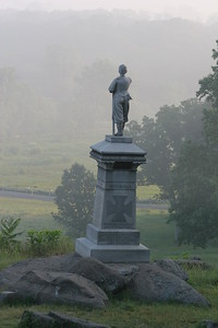 Monument to the 155th Pennsylvania on Little Round Top.