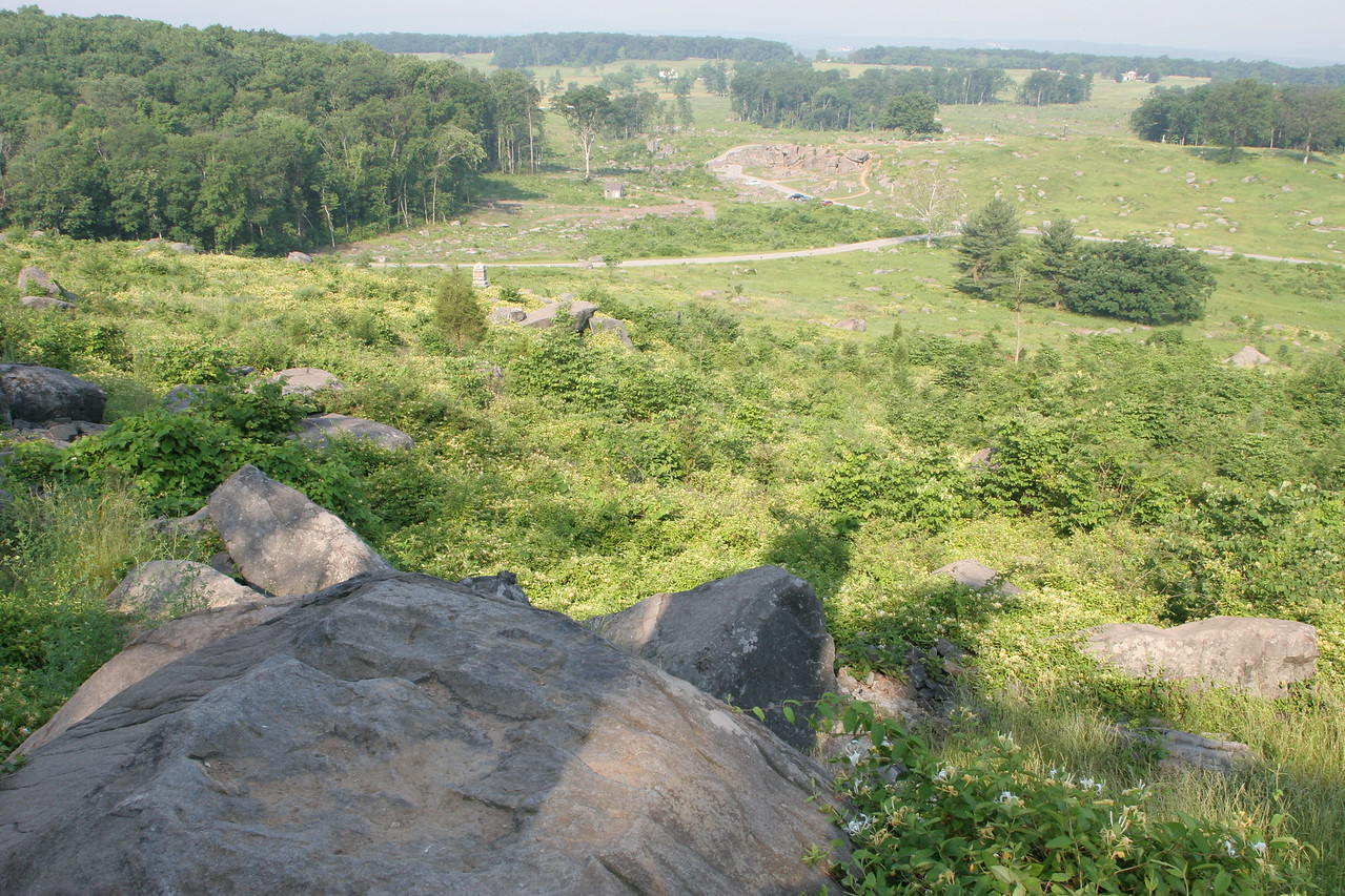 View of Devil's Den from Little Round Top - no wonder this hill was tough to climb for the Confederates.