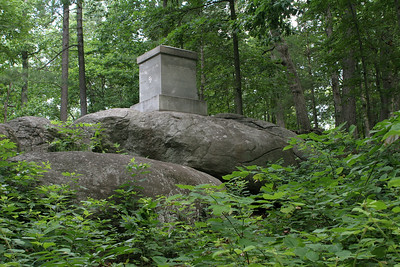 Monument to the 20th Maine on Little Round Top.