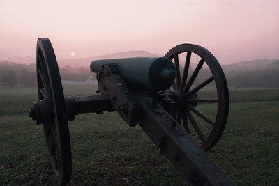 Cannon on the approach to the Round Tops.