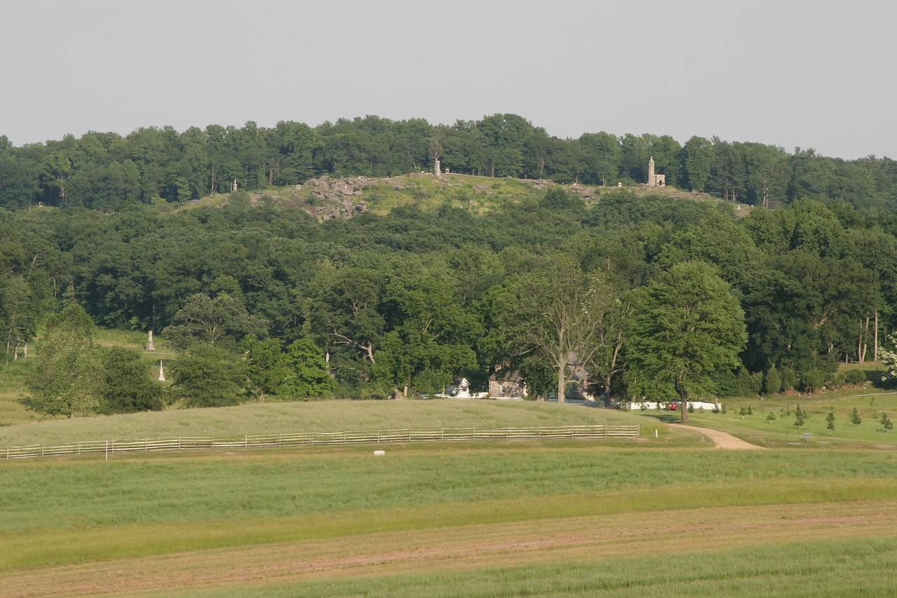 Little Round Top from the Wheatfield.