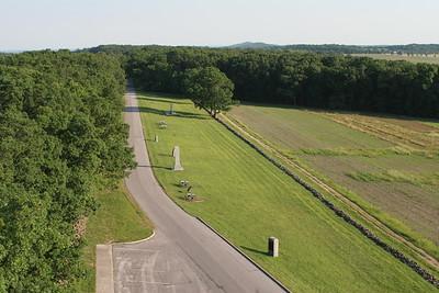 View along the southern part of Seminary Ridge