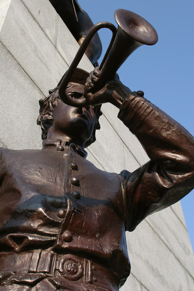 Virginia State Monument Closeup