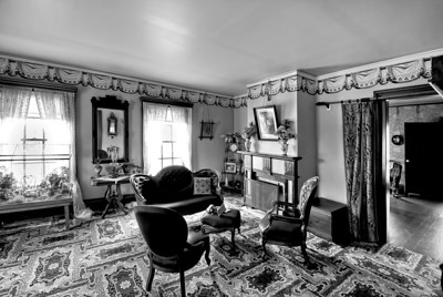 The guest parlor at the Tangen house at Living History Farms