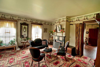 Tangen Parlor in the1875 Tangen home in Walnut Hill, Living History Farms.