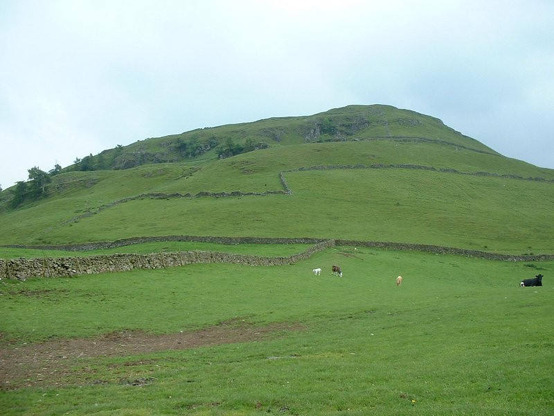 We left Castlerigg by the footpath (we had come up the road through a neighborhood and past some fields.) View from the path.
