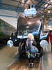 Liz next to Sir Nigel Gresley