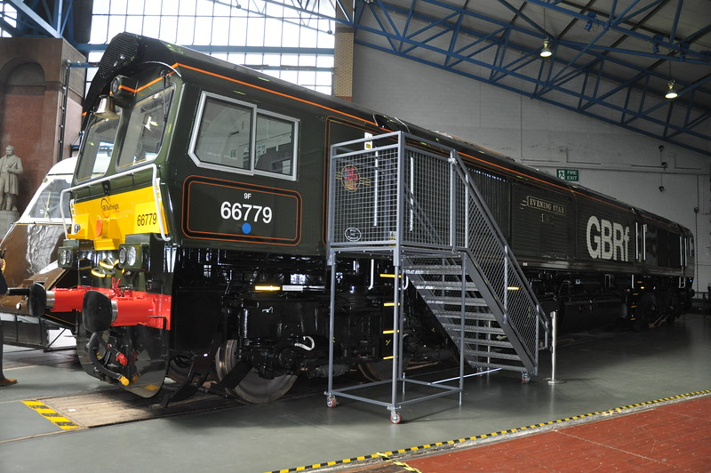 GBRF CLass 66: 66 779 at NRM for a Naming on 10th May 2016