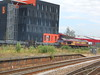 Middlesbrough Station <br /> <br /> 5th July 2016 <br /> <br /> 66 187 <br /> <br /> working a steel train round back of Boro Station
