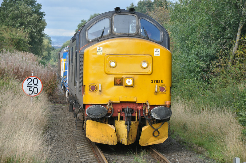 37 688 with 37 409 on the rear <br /> <br /> Ease into Gypsy Lane with <br /> <br /> 3S77 Carlisle - Carlisle via Nunthorpe RHTT <br /> <br /> 7th Oct 2013