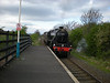 21st April 09<br /> <br /> Black 5 45407 pulls into Gypsy Lane on 5Z80 East Lancs - NYMR light loco move