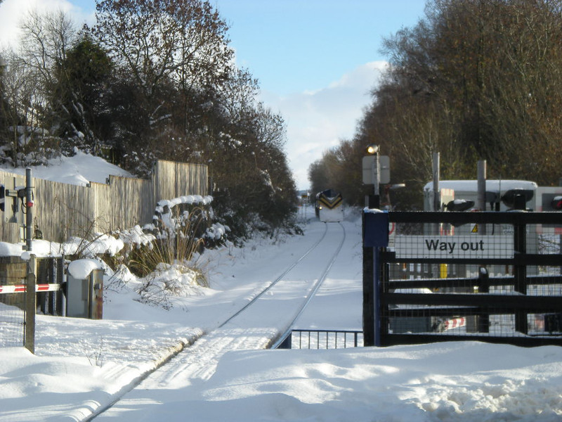 2nd December 2010<br /> <br /> 66206 leading with 66 109 on the rear<br /> <br />  with the Snowploughs at each end are just pulling out of Nunthorpe <br /> <br /> heading for Gypsy Lane on the Whitby line