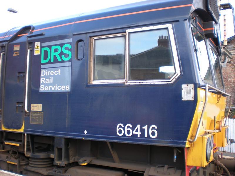 Cab of 66416 <br /> <br /> On rear of RHTT at Nunthorpe