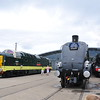 left to Right <br /> <br /> Deltic <br /> <br /> D9002 <br /> <br /> A4 Union of South Africa <br /> <br /> Flying Scotsman