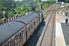 LMS Stanier 8F 48151 <br /> <br /> Stands at the signal awaiting watering from the Water tanker