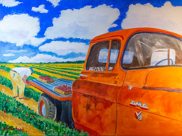 Orange GMC Strawberry Farmer