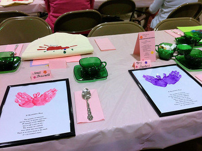 Table setting for the Grandmas