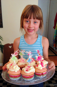 Cupcakes made with Aunt Lindsay
