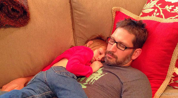 Snuggle time with Daddy