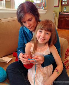 Crocheting with Nana!
