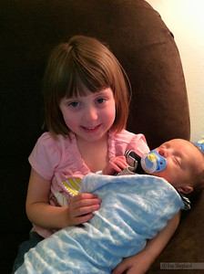 Holding baby Jake