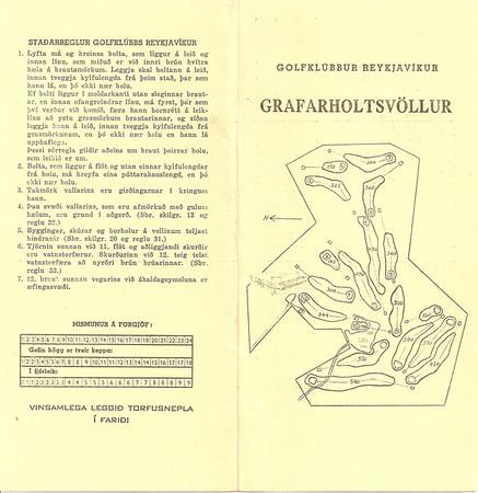 Grafarholt 12 holu völlur, skorkort.