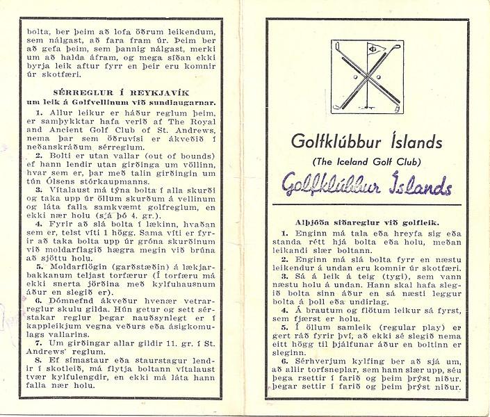 Golfvöllurinn við Sundlaugarnar í Laugardal.