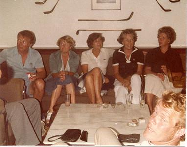 Kanaríeyjar 1972.  Fv. Þorbjörn Kjærbo, Guðný Kjærbo, Kristín Sveinbjörnsdóttir, Björg Ásgeirsdóttir, Petra Þóra Jónsdóttir. Fremstur á mynd: Gísli Hjartarson.