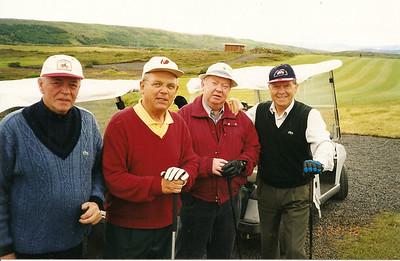 Spilafélagar til margra ára; myndin tekin á golfvelli golfkl. Odds. Fv. Páll Vígkonarson, Jón Svan Sigurðsson, Pálmi Viðar Samúelsson og Ásgeir Nikulásson.