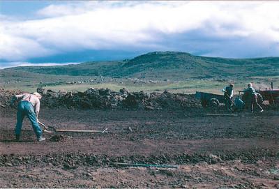 Hafsteinn Þorgeirsson við undirbúning 18. flatar í  Grafarholti.