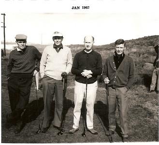 Meistaramót GR 1966. Fv. Ólafur Bjarki Ragnarsson, Óttar Yngvason, Ólafur Ágúst Ólafsson, Pétur Björnsson.