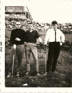 Þátttakendur í Jason Clark innanfélagsmóti hjá GR 1965. Kári Elíasson, Jón Þór Ólafsson, Hallgrímur Þorgrímsson ( Halli Togga ).