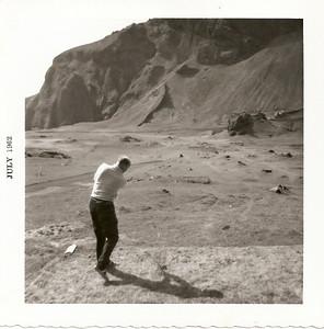 Íslandsmót, Vestmannaeyjum 1962, Ólafur Ágúst Ólafsson á fyrsta teig.