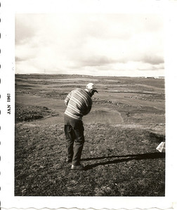 Meistaramót GR 1966, Jón Agnars með upphafshögg á fyrsta teig.